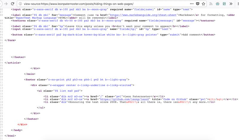 The source code from leonpaternoster.com