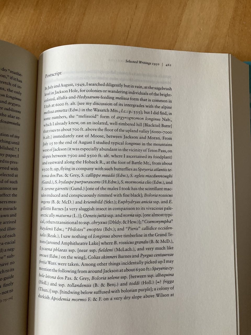 A photo of a book page and the section title in the top right corner.