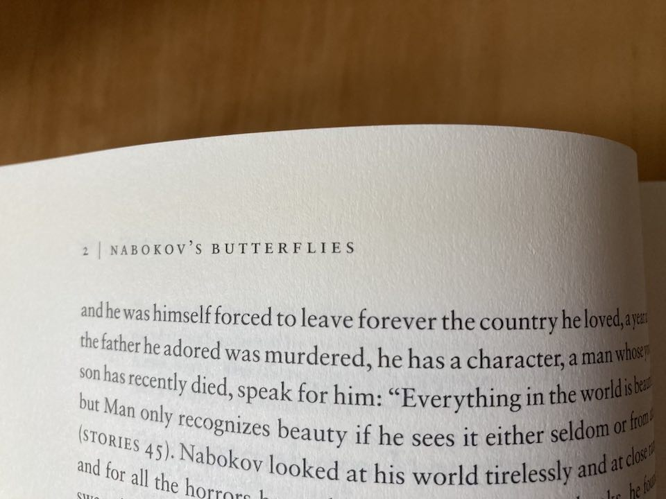 A photo of a book page and the book title in the top left corner.